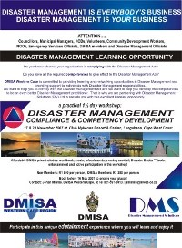 Regional Workshop DMISA Western Cape 2007